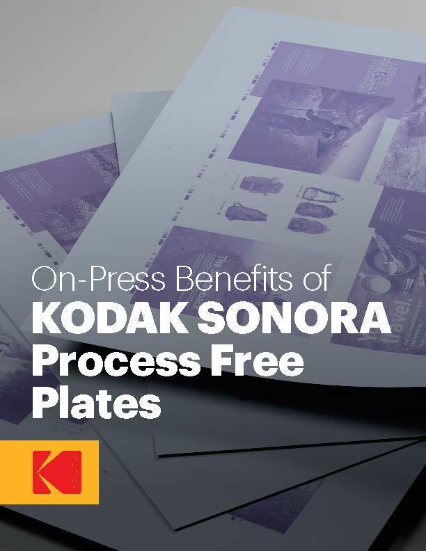 On-Press Benefits of KODAK SONORA Process Free Plates white paper cover