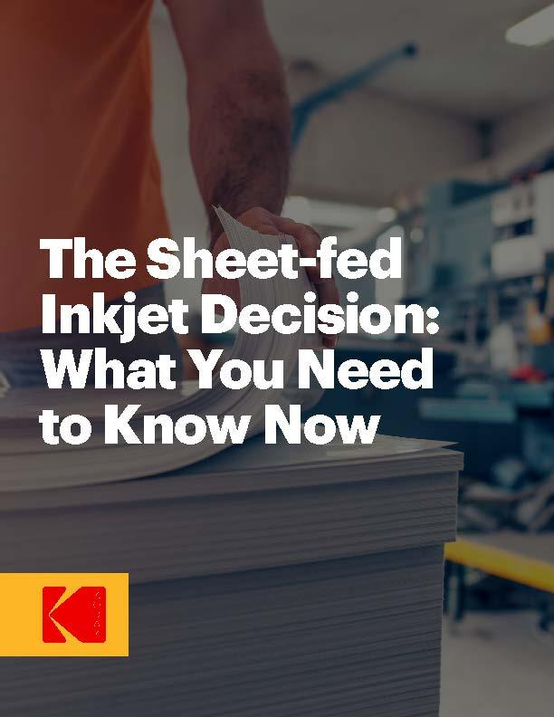 The Sheet-fed Inkjet Decision: What You Need to Know Now white paper cover