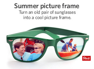 Summer picture frame - Pin it